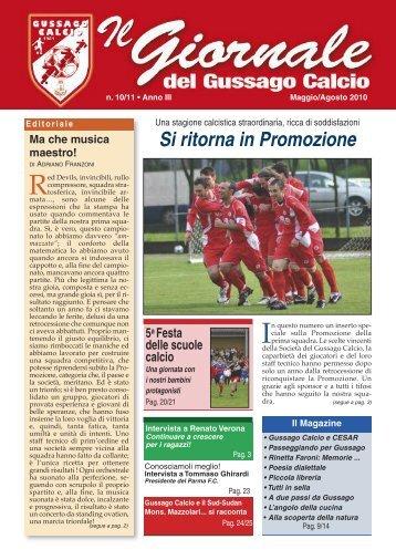 GIORNALE n. 10-11 (mag-ago 2010) - gussago calcio