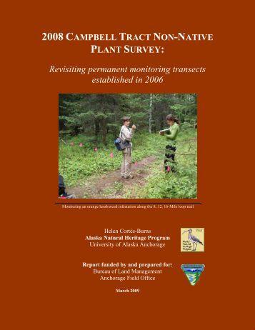 Download report [pdf] - Alaska Natural Heritage Program - University ...