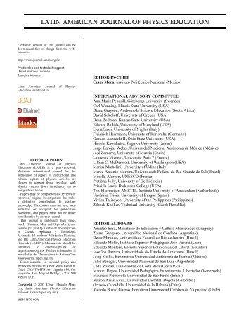 Editorial [PDF] - Latin-American Journal of Physics Education