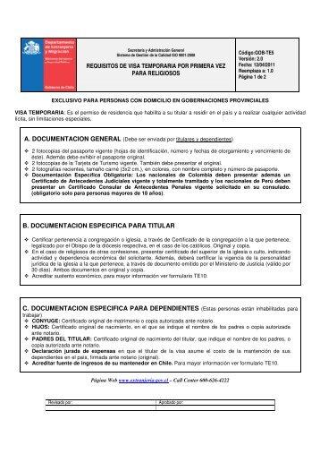 REQUISITOS DE VISA TEMPORARIA POR PRIMERA VEZ PARA ...