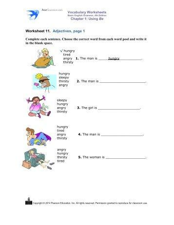 Adjectives worksheets ks1