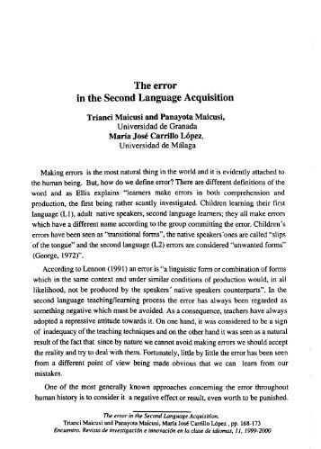 error correction in second language writing An additional study, that of lee (1997), is sometimes included in this category, though it differed from the others in that the task did not involve revision of the students' own writing but rather identification, classification, and correction of errors implanted in a newspaper article.