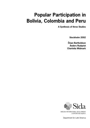 Popular Participation in Bolivia, Colombia and Peru