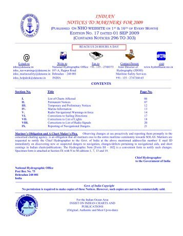 Edition 17 of 2009. - Indian Naval Hydrographic Department