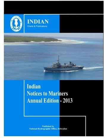 Annual Edition - 2013 - Indian Naval Hydrographic Department