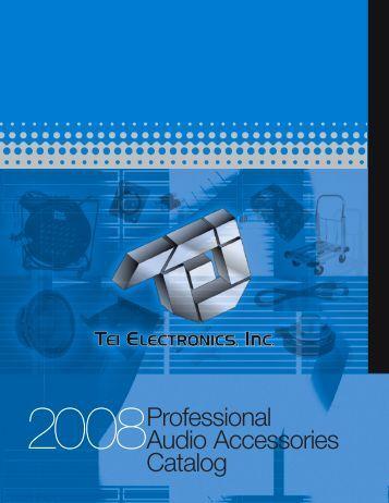 2008Professional Audio Accessories Catalog