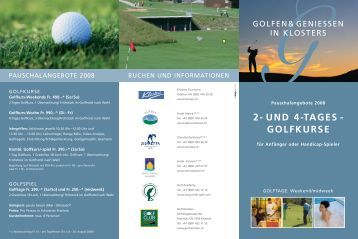 und 4-tages - golfkurse - WMP Senn GmbH