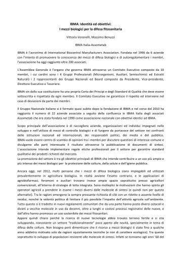 Article - IBMA, International Biocontrol Manufacturers' Association