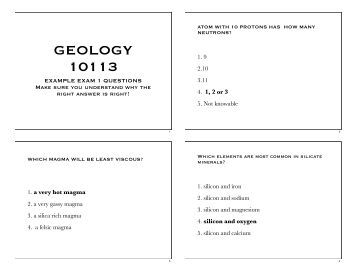 geology exam review Engineering geology is an international interdisciplinary journal bridging the fields of the earth sciences and engineering, particularly geological and geotechnical engineeringthe focus of the journal is on geological or engineering studies that are of interest to engineering geologists, whether their initial training is in geology or civil/mining engineering.