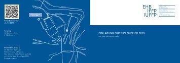 EINLADUNG ZUR DIPLOMFEIER 2013 - EHB