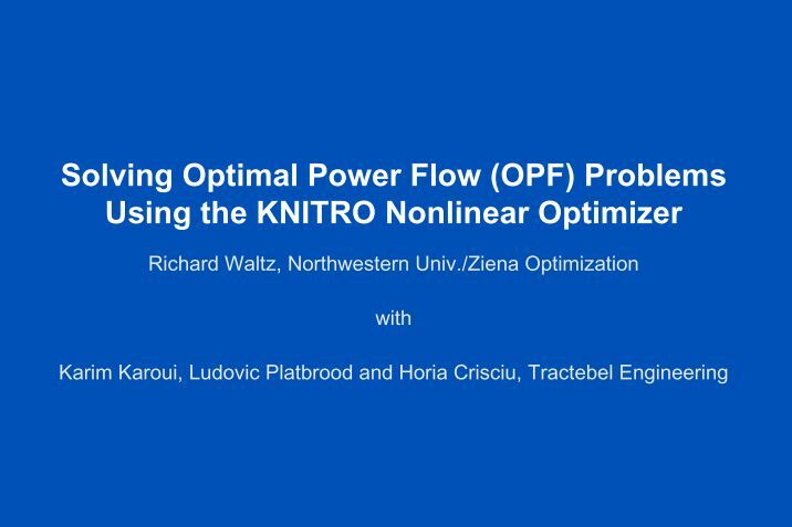 thesis on optimal power flow