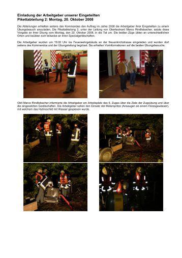 Einladung Arbeitgeber 2008 - Feuerwehr Emmen