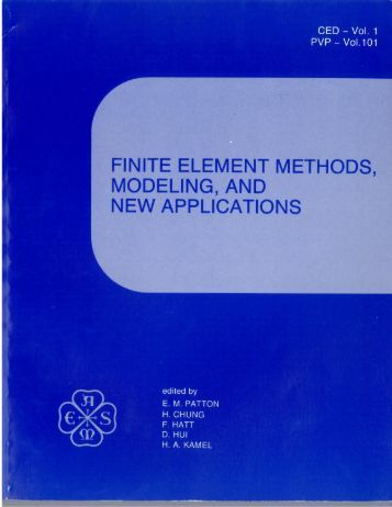 A new object oriented finite element analysis program for Finite elemente modell