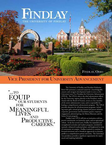 Vice President FOr UniVersity adVancement - The University of ...