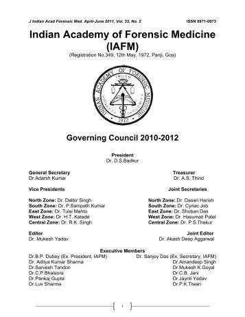 JAFM-33-2, April-June, 2011 [PDF] - forensic medicine