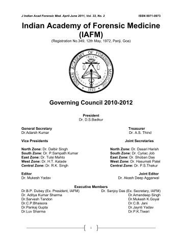 JAFM-33-2, April-June, 2011 [PDF] - forensic medicine