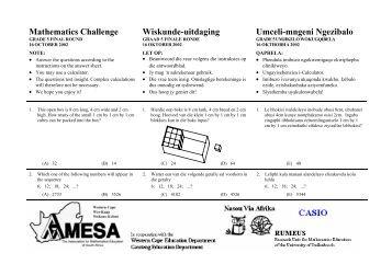 Grade 5 Final Round 2002 - AMESA