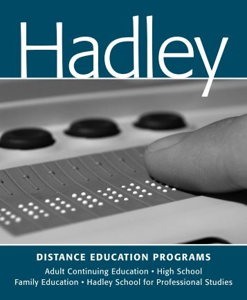distance education programs - The Hadley School for the Blind