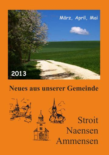 Gemeindebrief Maerz Mai Kirchen - Pfarrverband Naensen