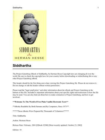 siddhartha by hermann hesse in hindi pdf