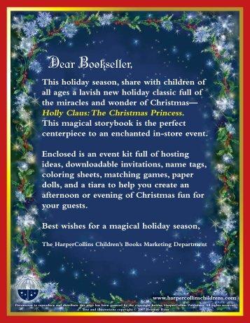 Dear Bookseller, - HarperCollins Publishers