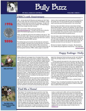 Volume 2 - Issue 1 - Pit Bull Rescue Central