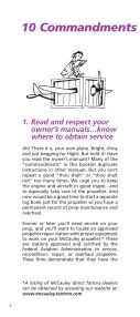 commandments of propeller care - McCauley Propeller Systems - Page 2