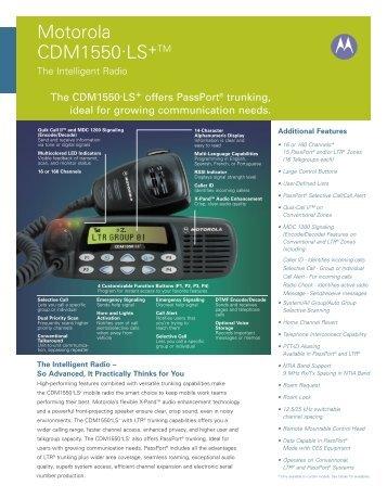 Motorola Cdm 1550 Manual