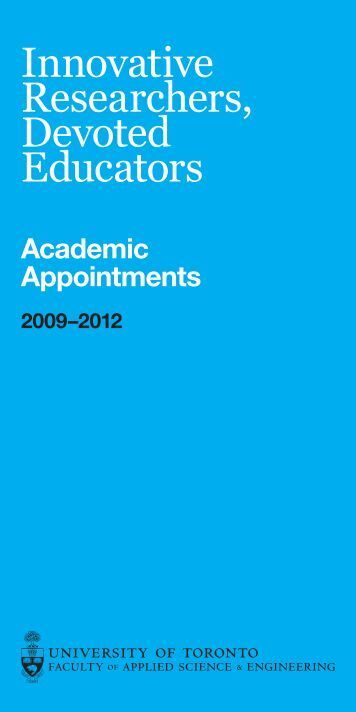 Academic Appointments Brochure 2009–2012 - Faculty of Applied ...