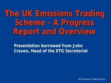 Emissions trading system uk