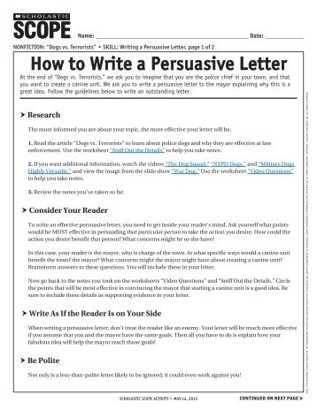 rhetorical persuasive letter Analyzing the rhetoric of jfk's inaugural address (eg, sound-letter analyze and evaluate an author's use of rhetorical devices in persuasive.