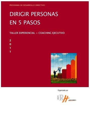 DIRIGIR PERSONAS EN 5 PASOS - Grupo RH Asesores