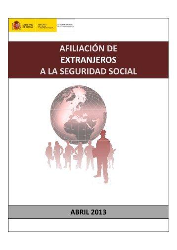 Datos afiliados extranjeros abril - Ministerio de Empleo y Seguridad ...