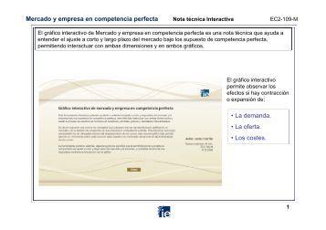 Mercado y empresa en competencia perfecta • La demanda • La ...