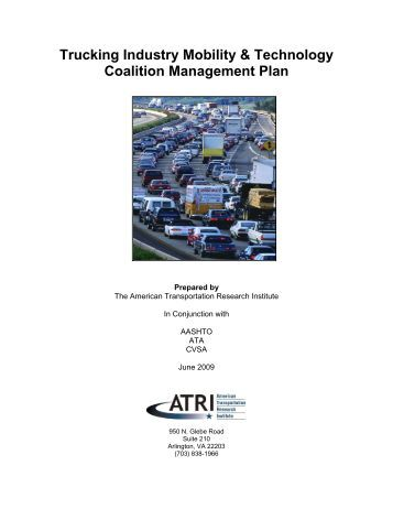 Management Plan - Trucking Industry Mobility and Technology ...
