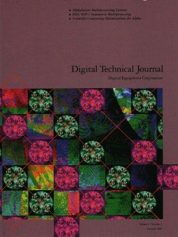 DTJ Volume 6 Number 3 1994 (PDF, 7.9 - Digital Technical Journals