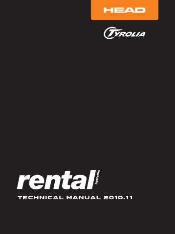 RENTAL Manual 2010 Engl. - Tyrolia