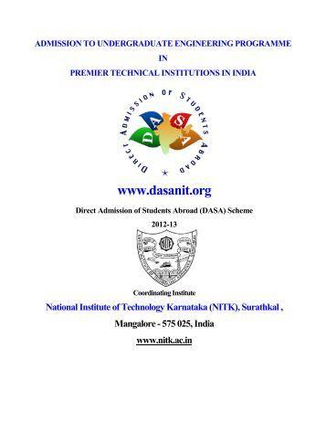 DASA Brochure 2012. - NIT Warangal