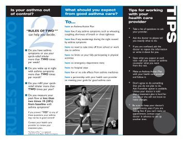 asthma brochure template - managing asthma and allergies in dc schools dc asthma