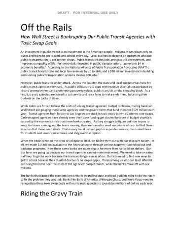 How Wall Street Is Bankrupting Our Public Transit ... - ReFund Transit