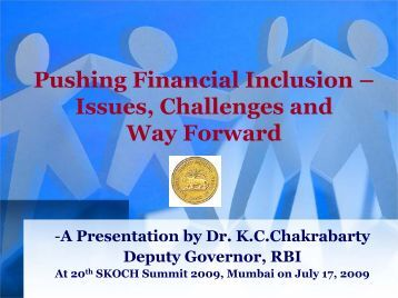 Pushing Financial Inclusion - Reserve Bank of India