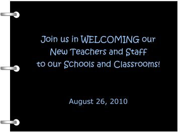 New Staff, September 2010 - Canton Public Schools