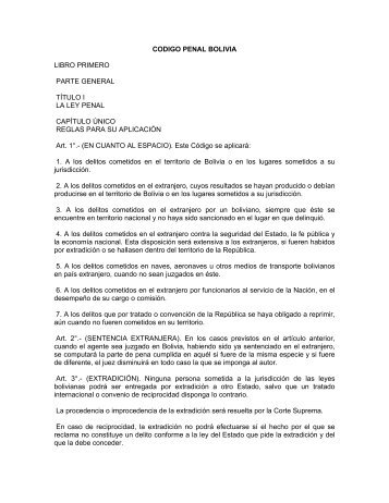 codigo penal bolivia - Red Iberoamericana de Protección de datos