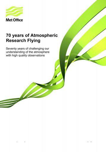 70 years of Atmospheric research flying timeline ... - Met Office