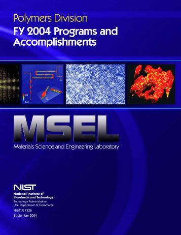 Materials Science and Engineering Laboratory FY 2004 ... - NIST