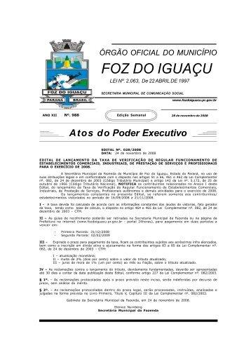 Atos do Poder Executivo - Prefeitura de Foz do Iguaçu