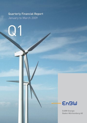Enbw Quarterly Financial Report January to March 2009