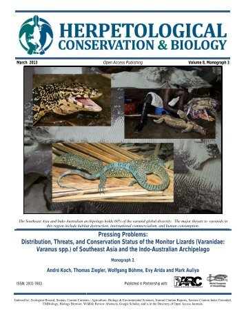 Distribution, Threats, and Conservation Status of the Monitor Lizards