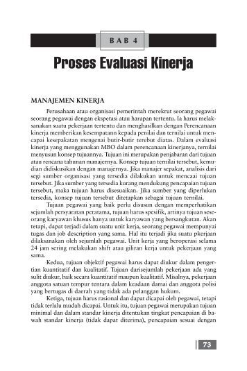 Bab 4 Proses Evaluasi Kinerja.pmd - Blog Bina Darma