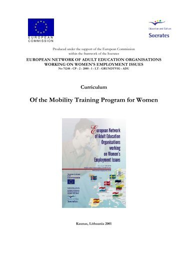 Of the Mobility Training Program for Women - Women's employment